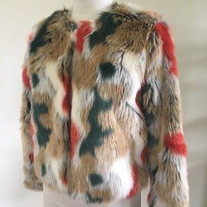 Colourful faux fur